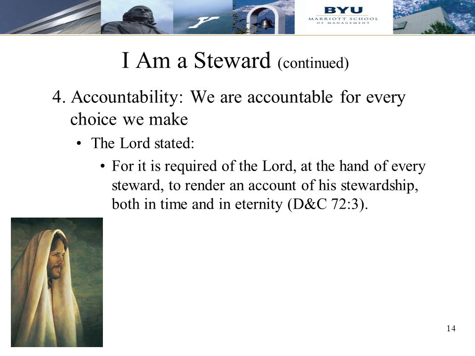 14 I Am a Steward (continued) 4.
