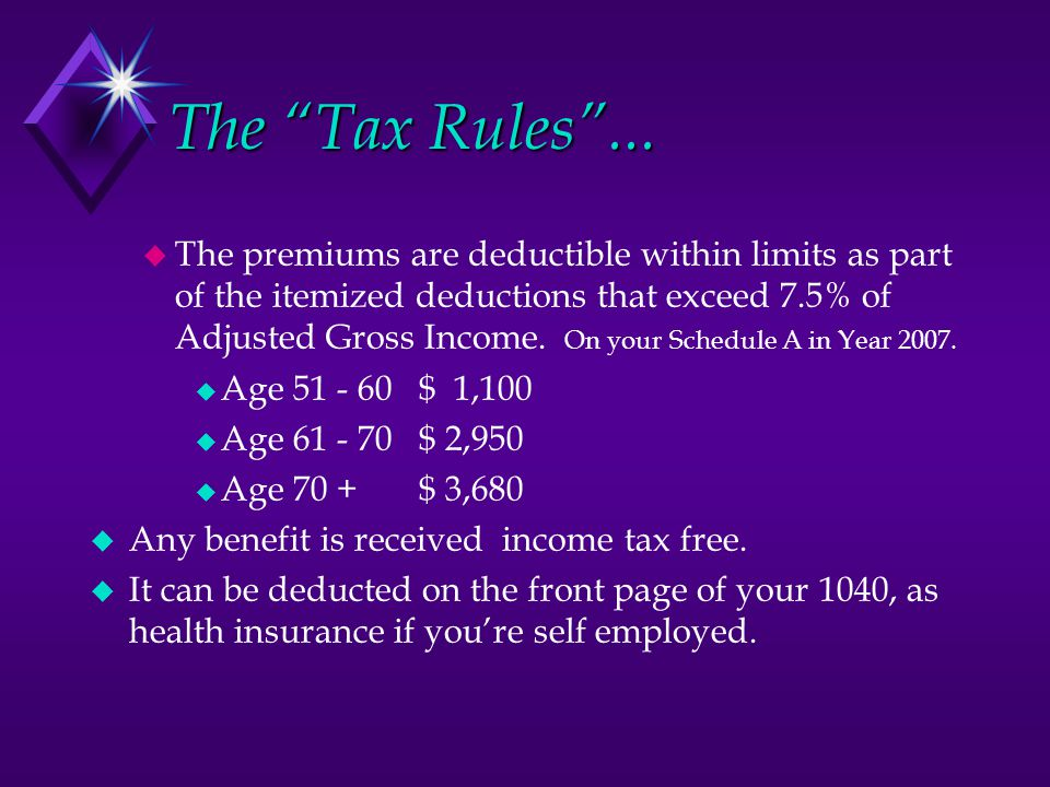 The Tax Rules ...