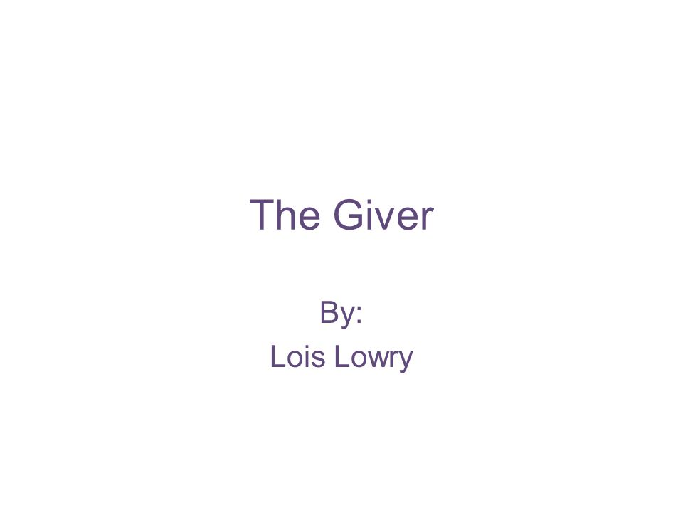 Characters Jonas- an eleven year old boy about to be given a very interesting job Jonas' father-he works at the Nurturing Center for small children Jonas' mother-she works for the Department of Justice Lily-Jonas' 7 year old sister Gabriel-a baby from the nurturing center that Jonas' dad brings home Fiona and Asher-Jonas' friends The Giver - a man from whom Jonas learns many things