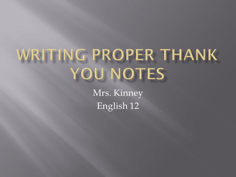 Mrs. Kinney English 12