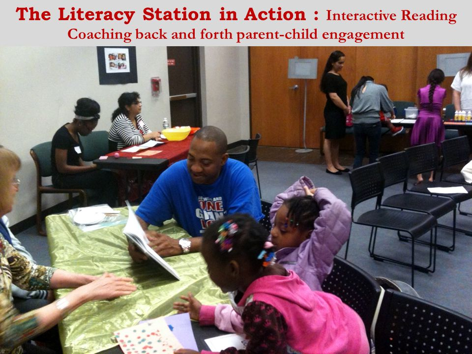 The Literacy Station in Action : Interactive Reading Coaching back and forth parent-child engagement