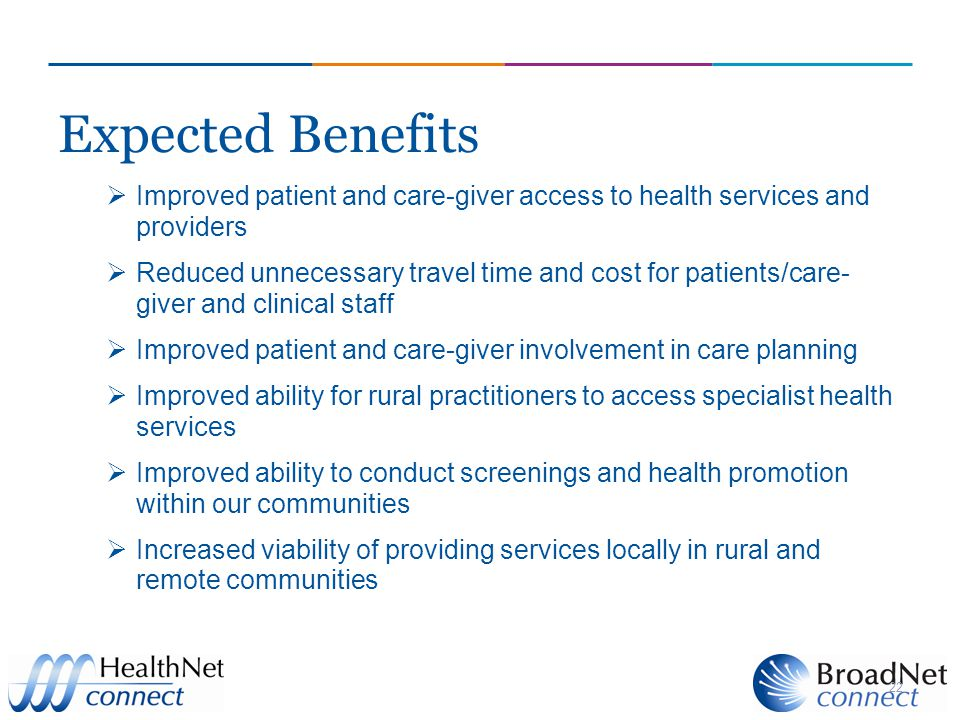 Expected Benefits  Improved patient and care-giver access to health services and providers  Reduced unnecessary travel time and cost for patients/care- giver and clinical staff  Improved patient and care-giver involvement in care planning  Improved ability for rural practitioners to access specialist health services  Improved ability to conduct screenings and health promotion within our communities  Increased viability of providing services locally in rural and remote communities 22