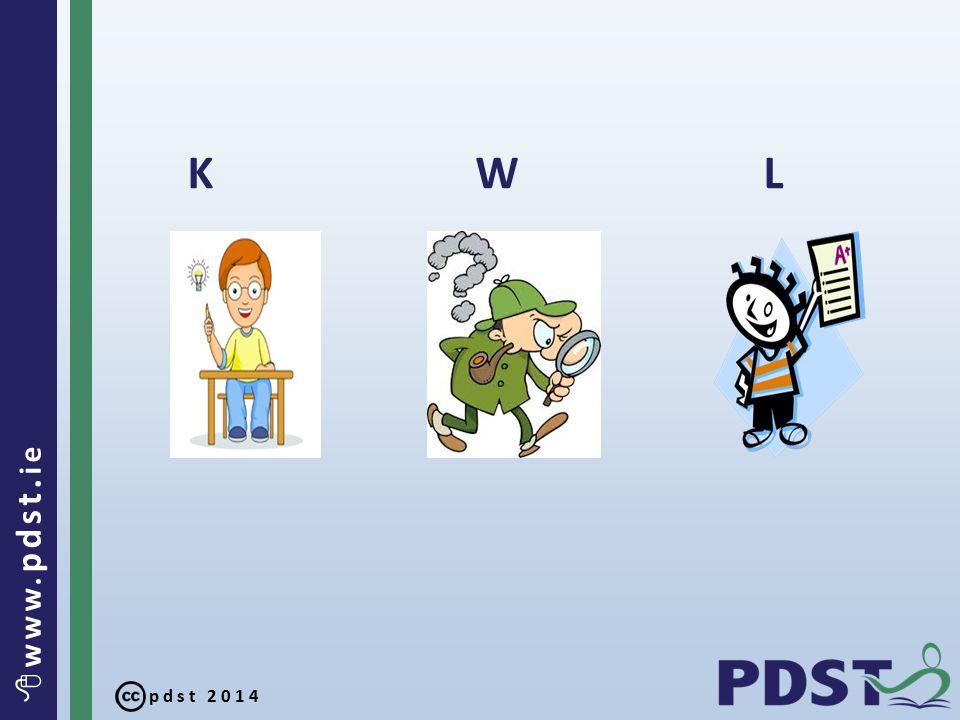 pdst 2014  www. pdst. ie KWL KWL