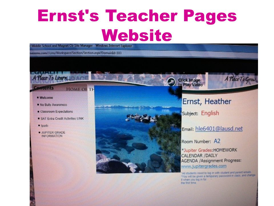 Ernst s Teacher Pages Website