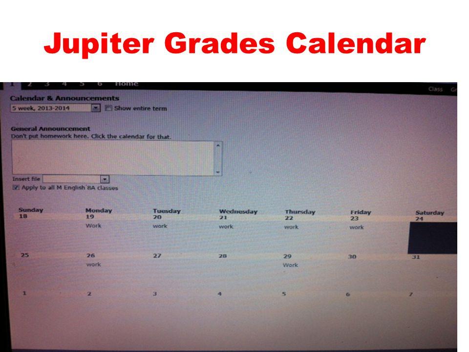 Jupiter Grades Calendar