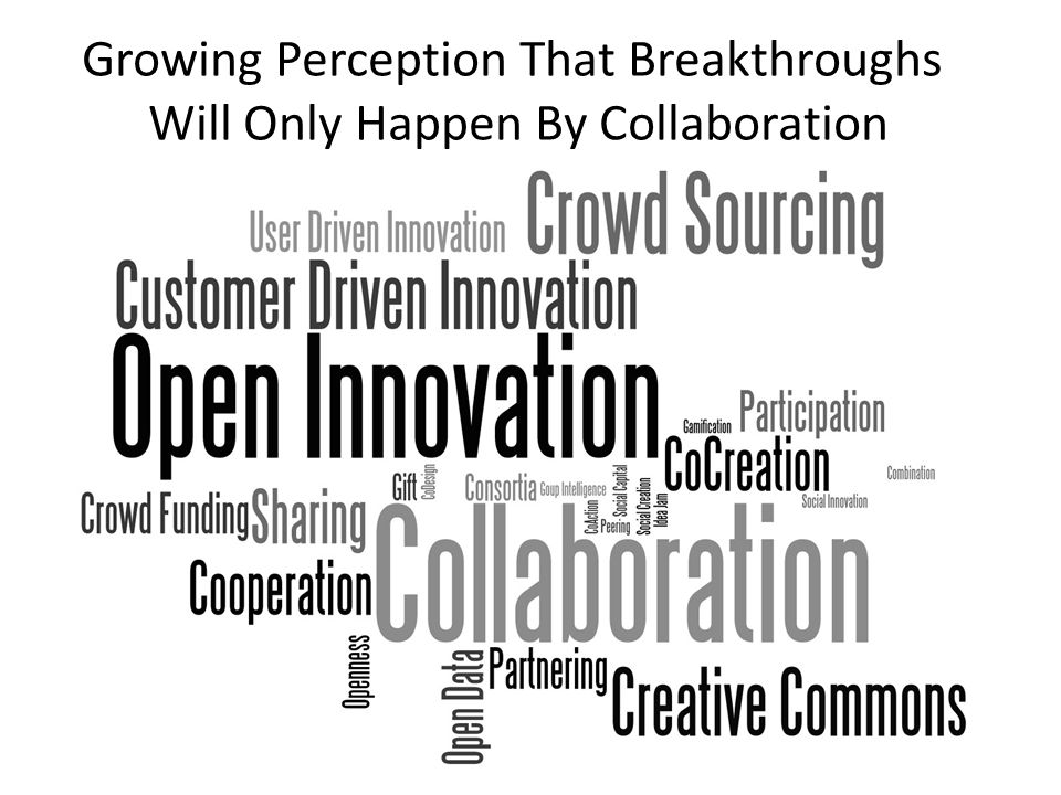 Growing Perception That Breakthroughs Will Only Happen By Collaboration