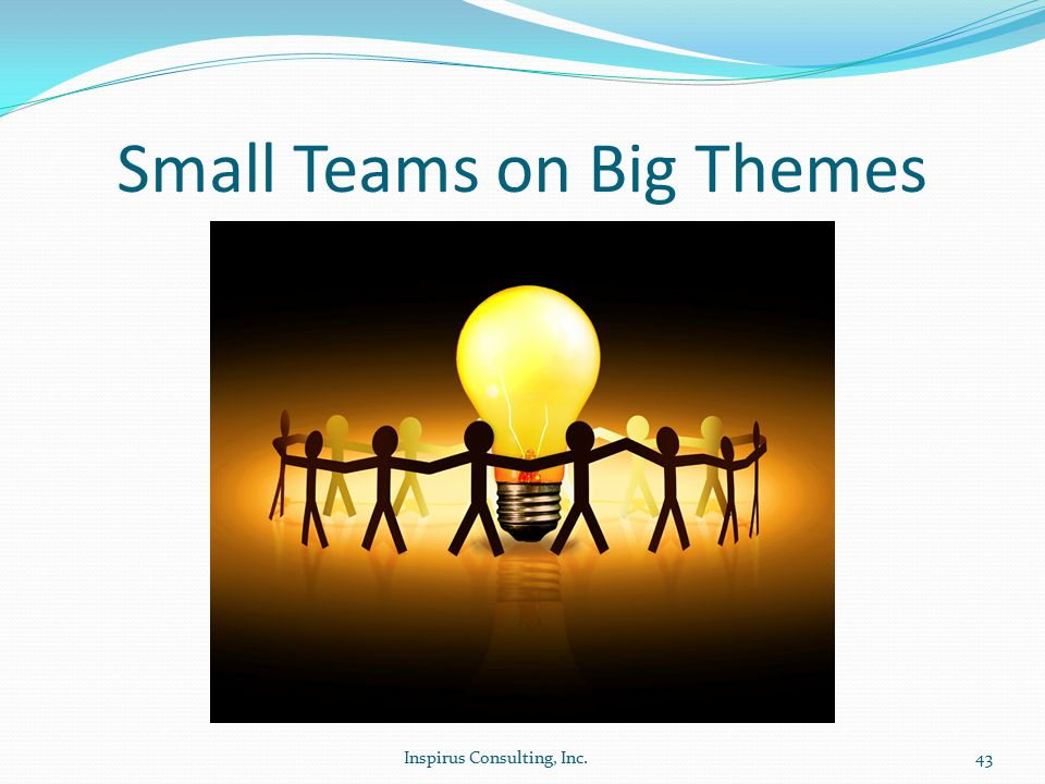 Small Teams on Big Themes Inspirus Consulting, Inc.43