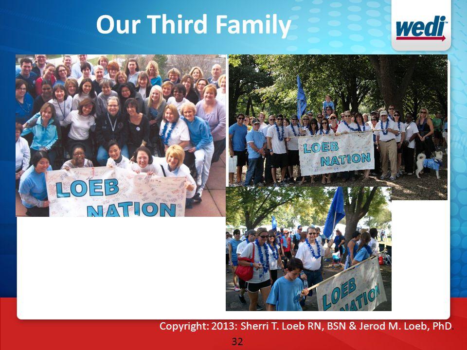 32 Our Third Family Copyright: 2013: Sherri T. Loeb RN, BSN & Jerod M. Loeb, PhD.