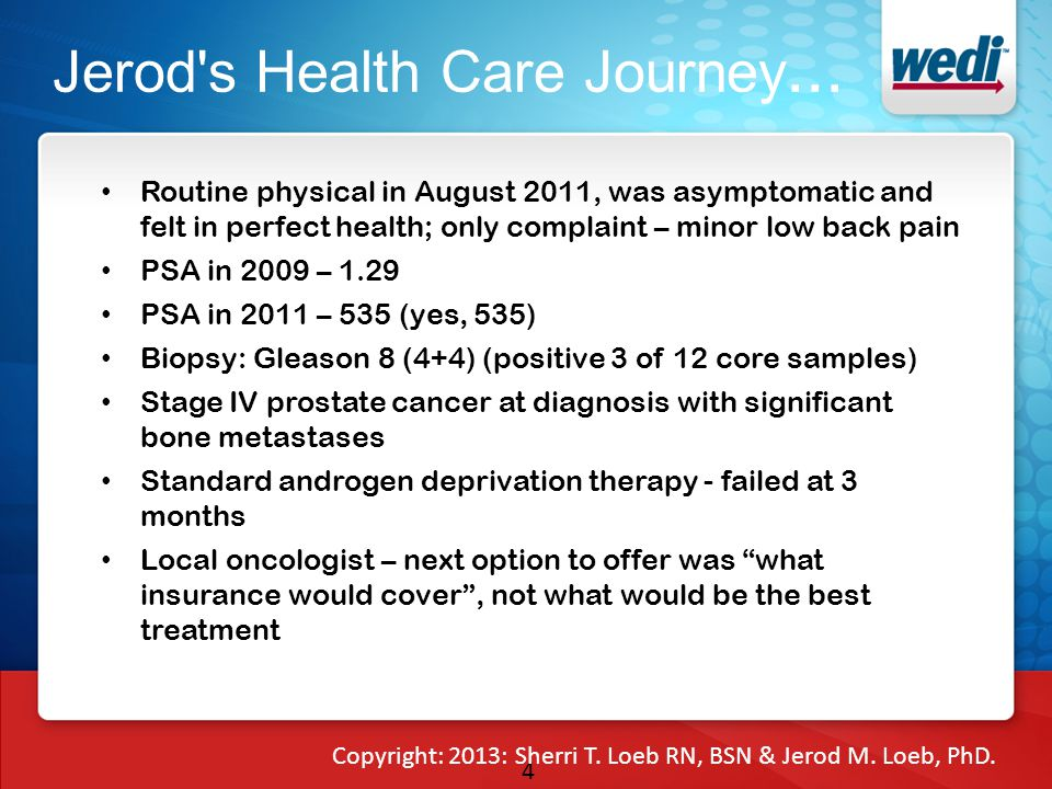 4 Jerod s Health Care Journey...