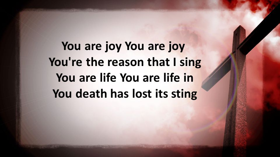 You are joy You re the reason that I sing You are life You are life in You death has lost its sting