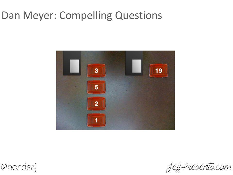 Dan Meyer: Compelling Questions
