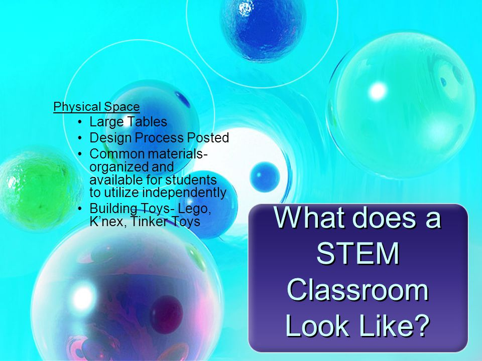 What does a STEM Classroom Look Like.