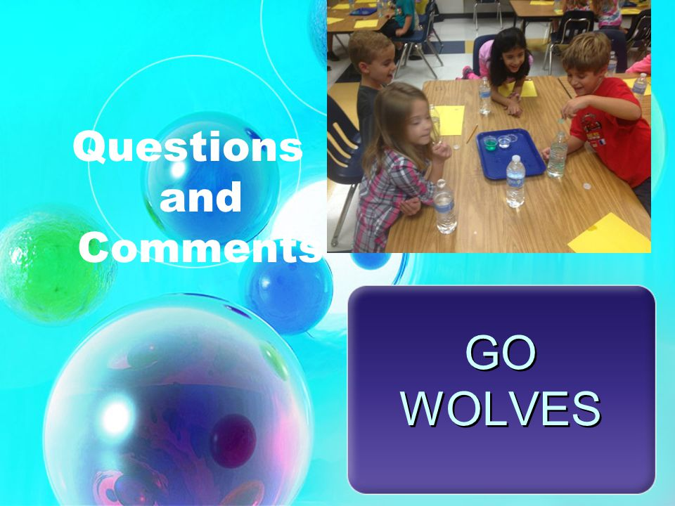 GO WOLVES Questions and Comments