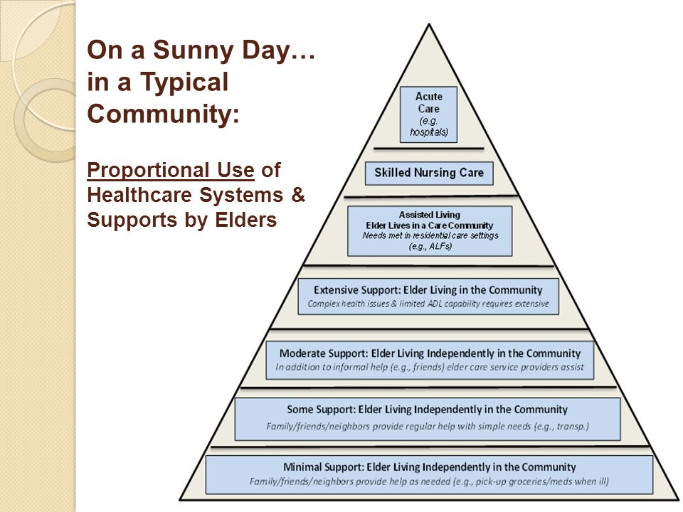 On a Sunny Day… in a Typical Community: Proportional Use of Healthcare Systems & Supports by Elders 16