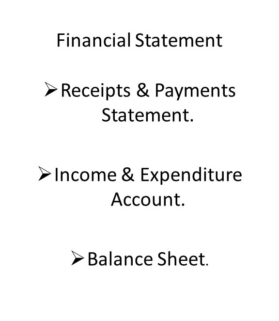 Financial Statement  Receipts & Payments Statement.