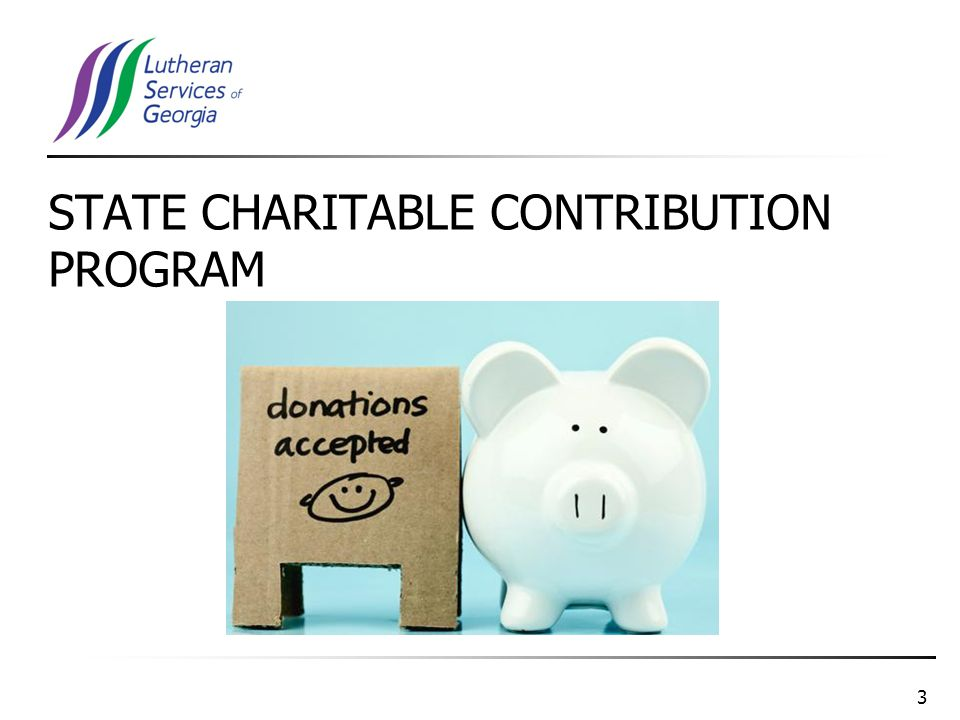 3 STATE CHARITABLE CONTRIBUTION PROGRAM