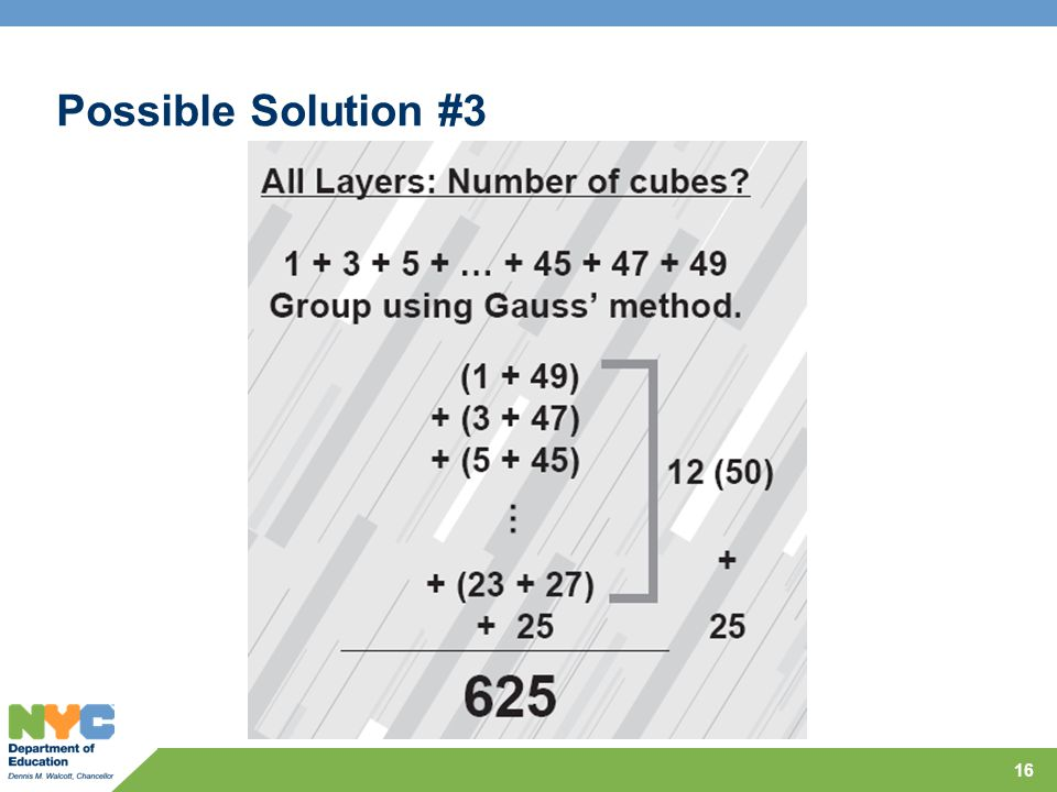 Possible Solution #3 16