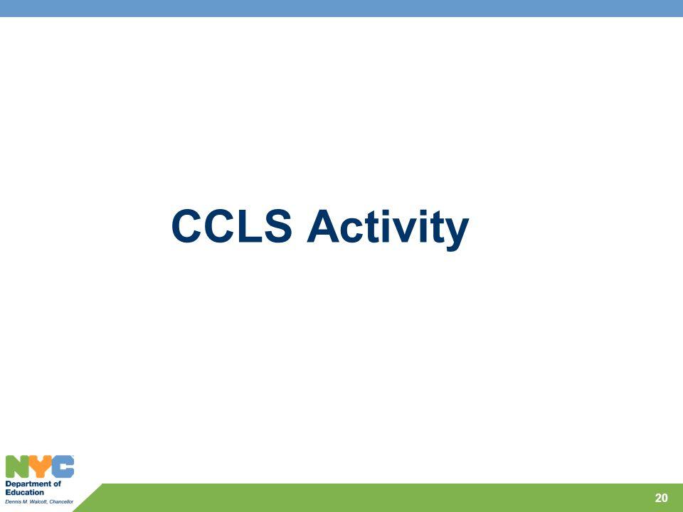 CCLS Activity 20