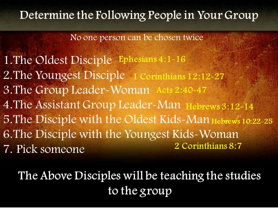 Additional Scriptures 1 John 1:5-10 Ephesians 2:19-20 Romans 12:4-8 John 17:20-26 Colossians 1:18 Colossians 2:18-19 John 13:34-35