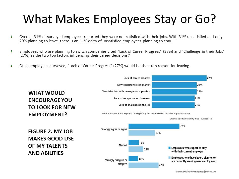 What Makes Employees Stay or Go.