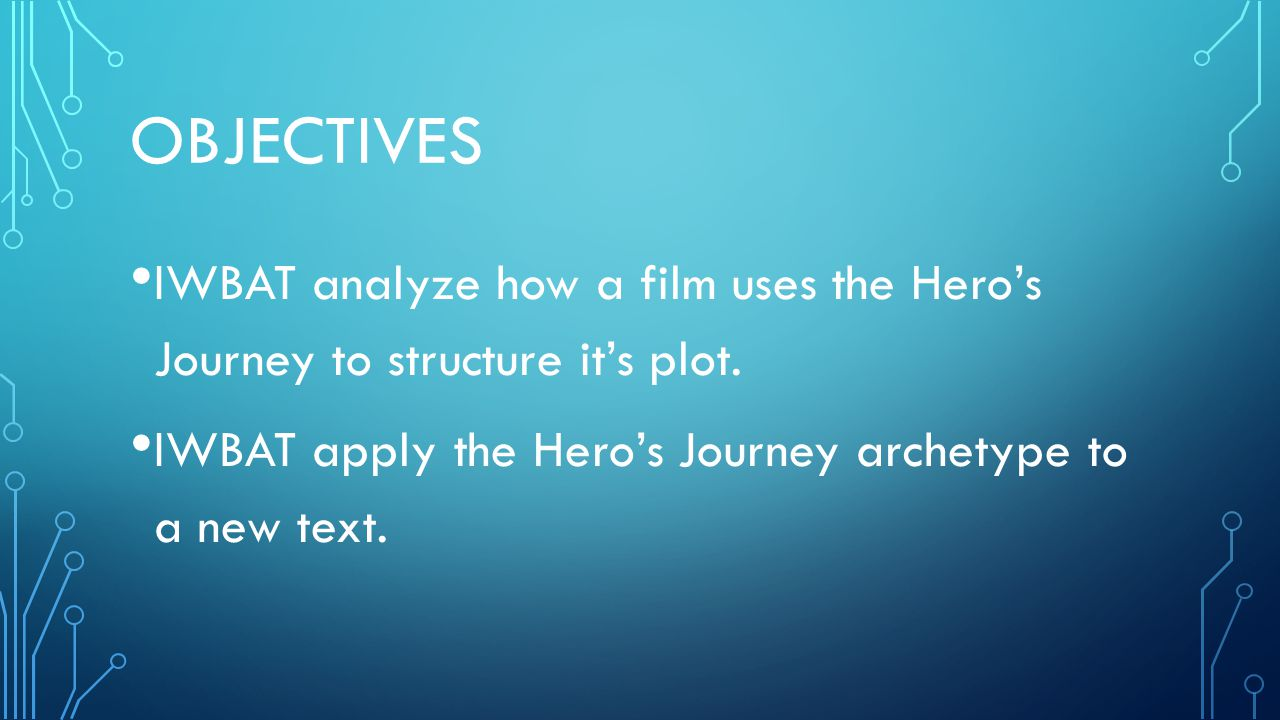 ACADEMIC LANGUAGE GLOSSARY Hero's Journey- a plot pattern that shows the development of a hero 3 Stages: The Departure, the Initiation and the Return 3 Steps under each stage