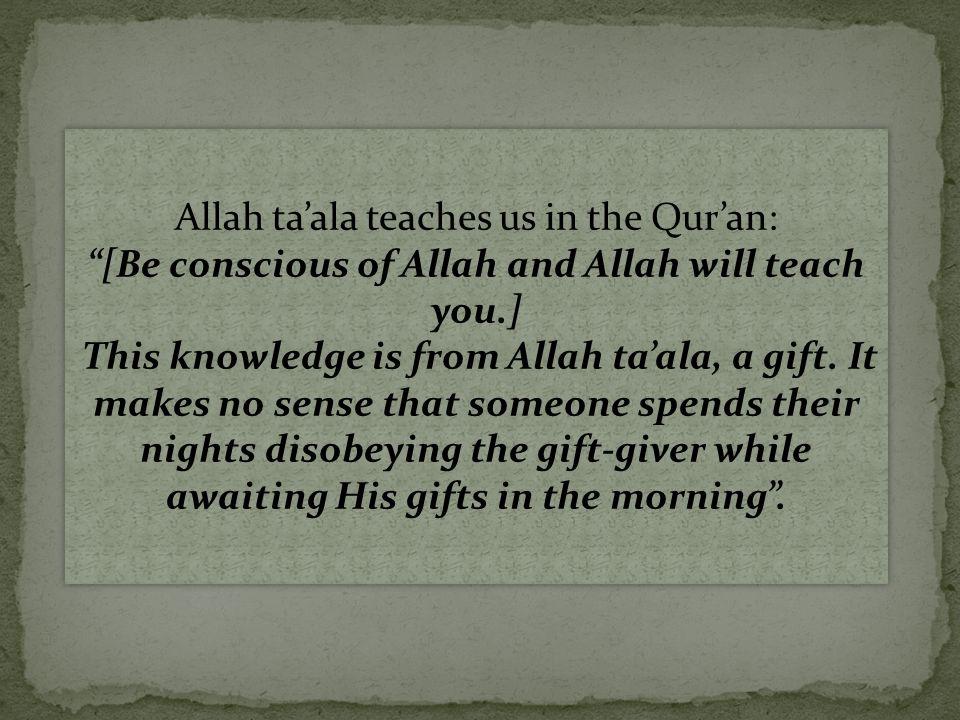 A man asked Maalik ibn Anas, 'O Abu 'Abd-Allaah.