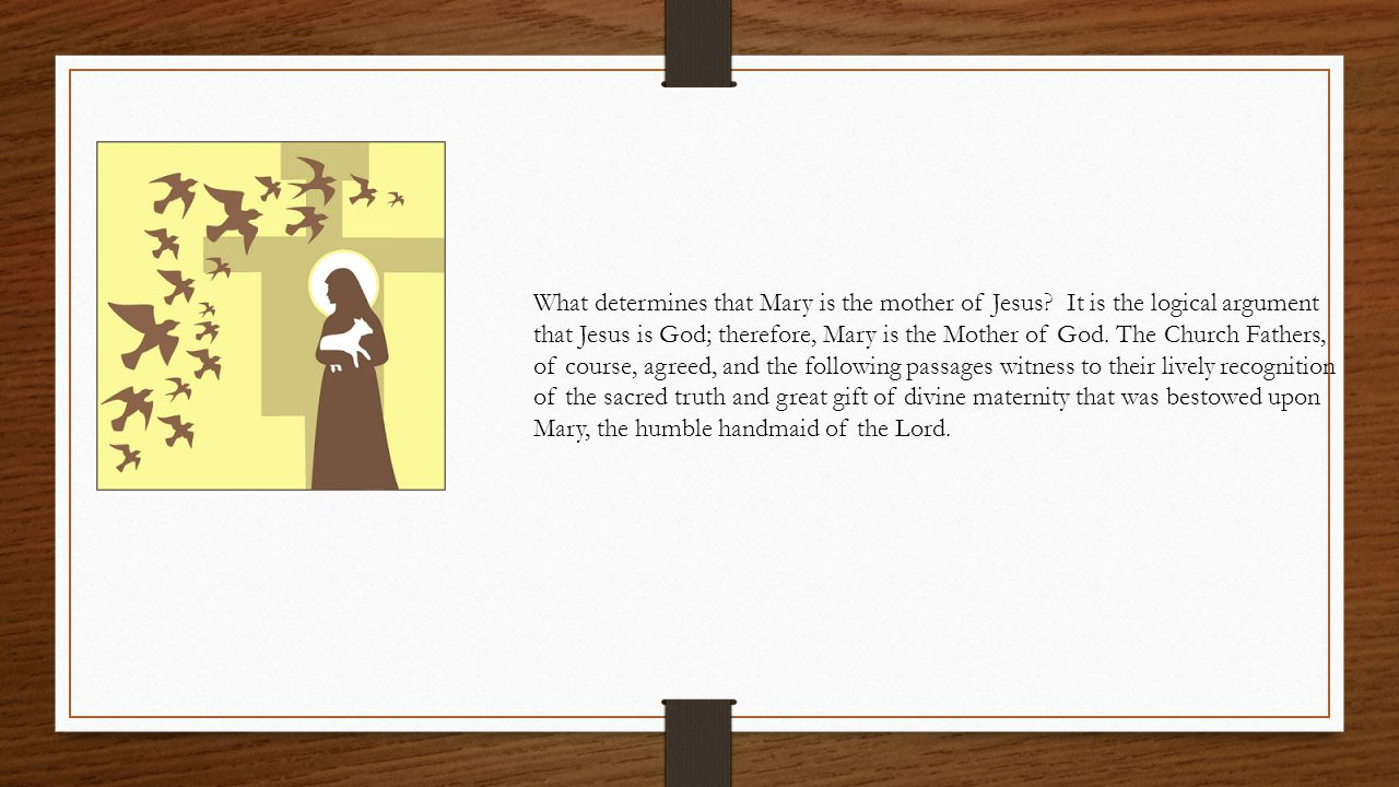 What determines that Mary is the mother of Jesus.