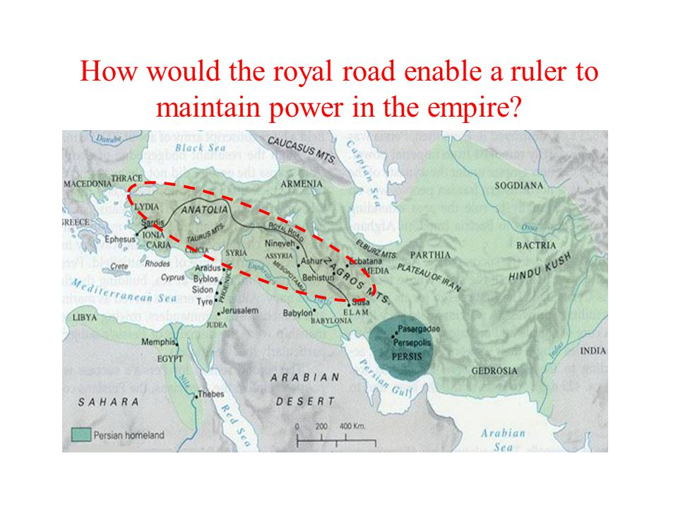 How would the royal road enable a ruler to maintain power in the empire?
