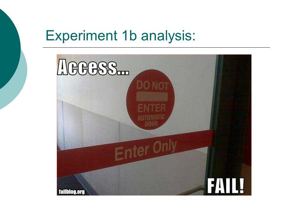 Experiment 1b analysis: