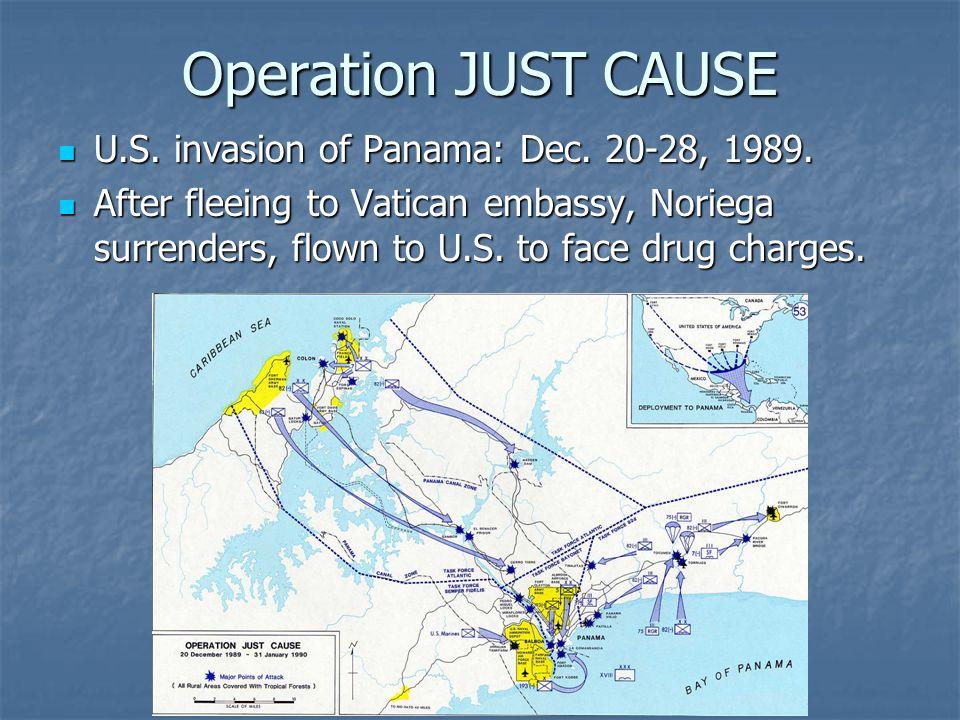 Operation JUST CAUSE U.S. invasion of Panama: Dec.