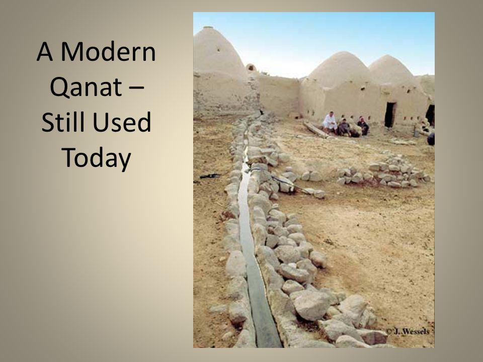 A Modern Qanat – Still Used Today