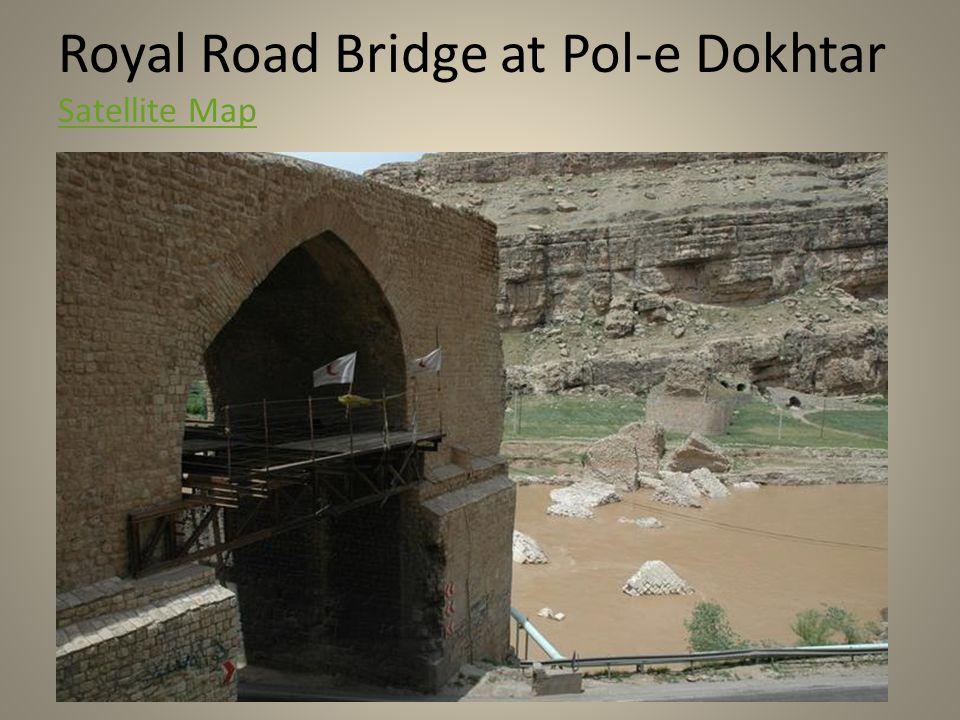 Royal Road Bridge at Pol-e Dokhtar Satellite Map Satellite Map