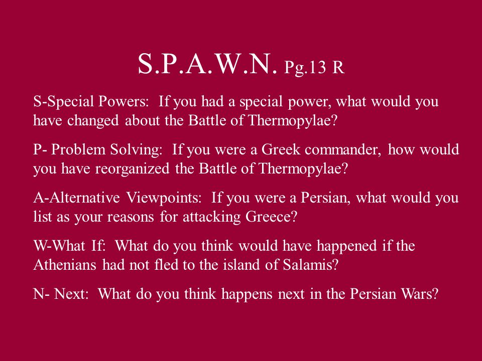 S.P.A.W.N.