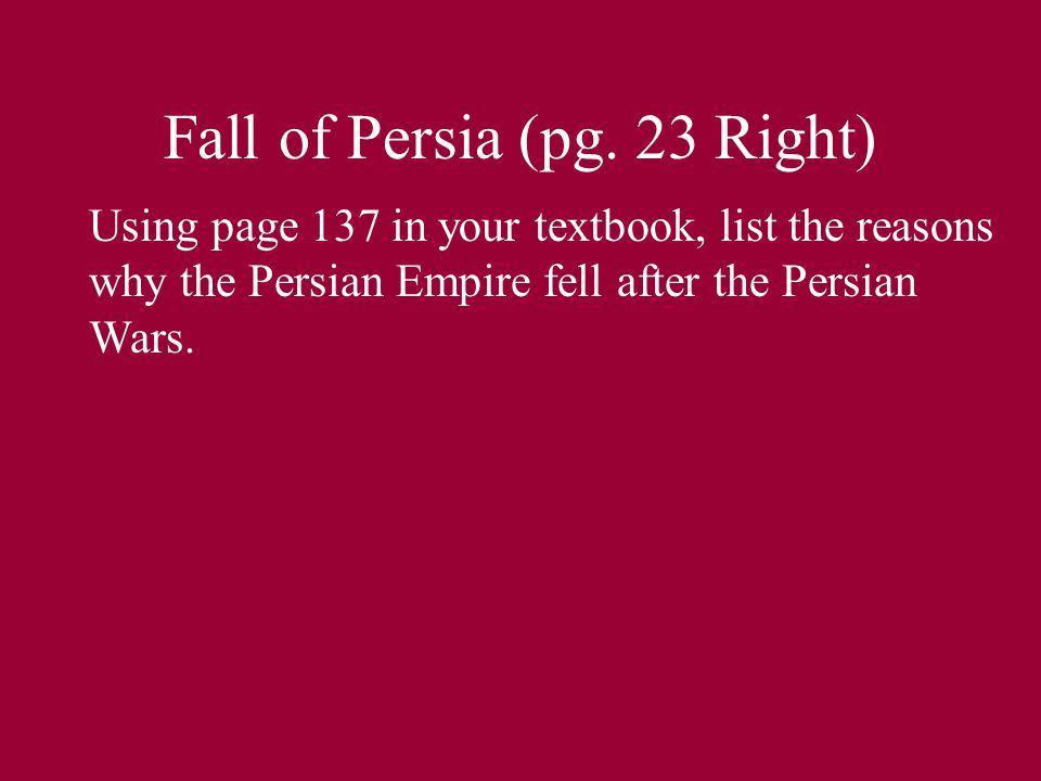 Fall of Persia (pg.