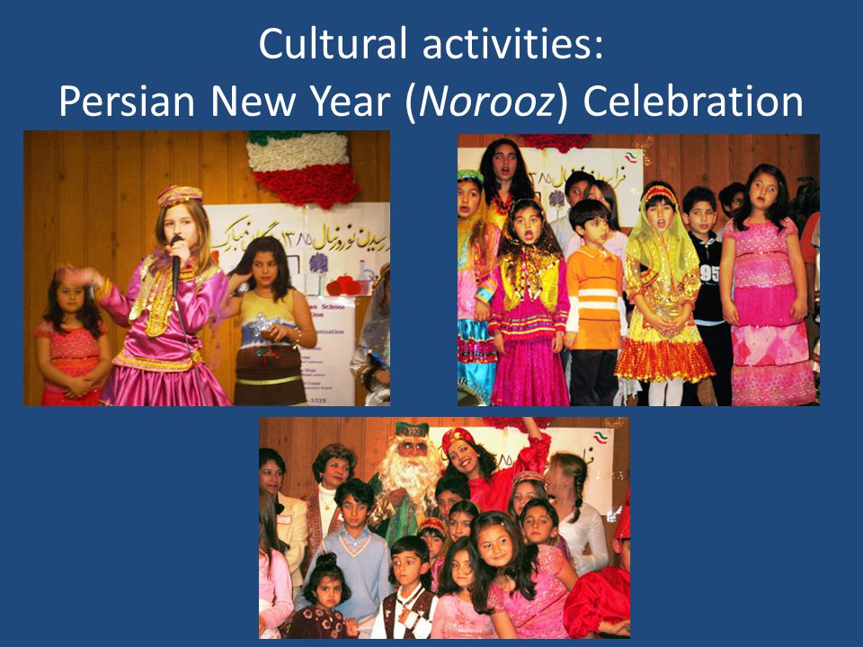 Cultural activities: Persian New Year (Norooz) Celebration