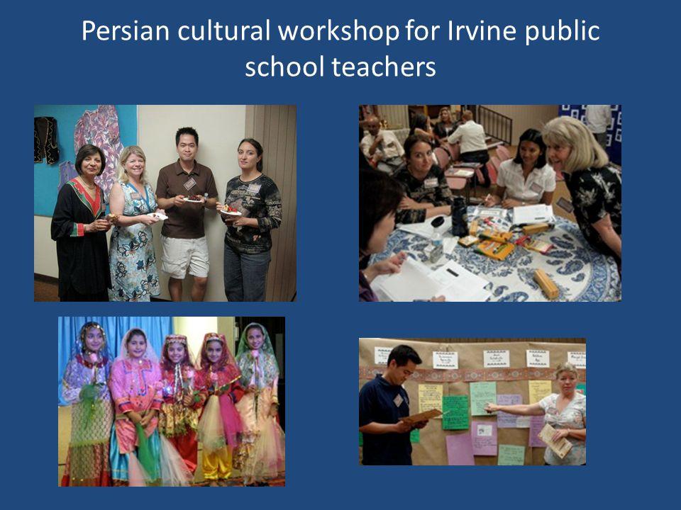 Persian cultural workshop for Irvine public school teachers