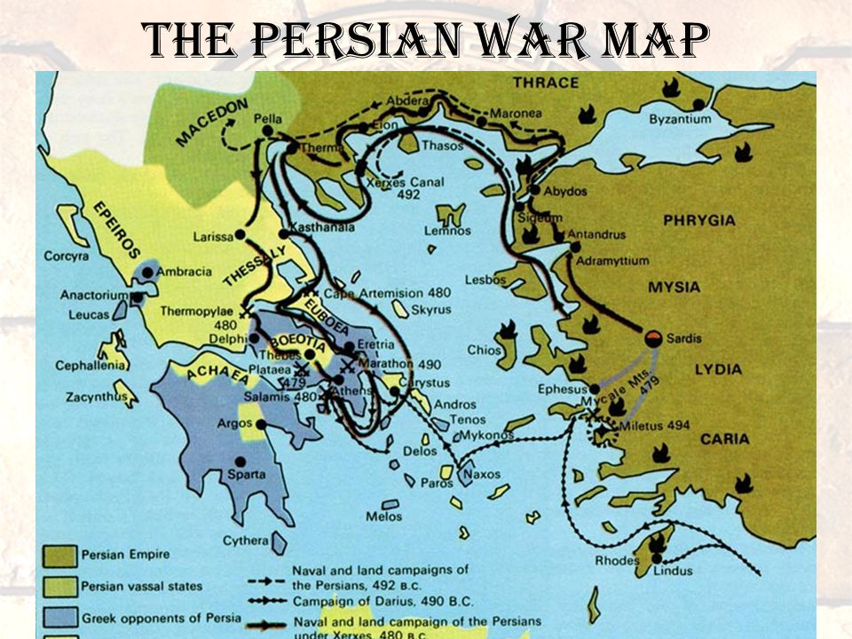 The Persian war MAP