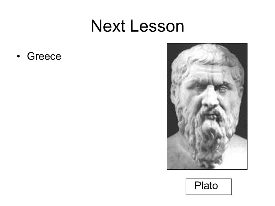 Next Lesson Greece Plato