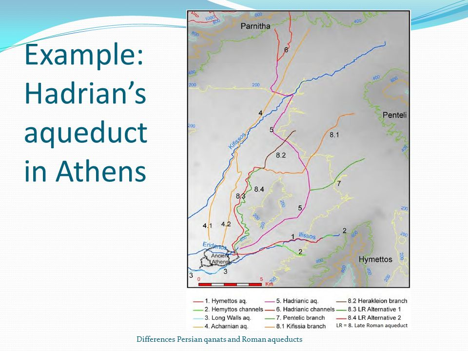 Example: Hadrian's aqueduct in Athens Differences Persian qanats and Roman aqueducts