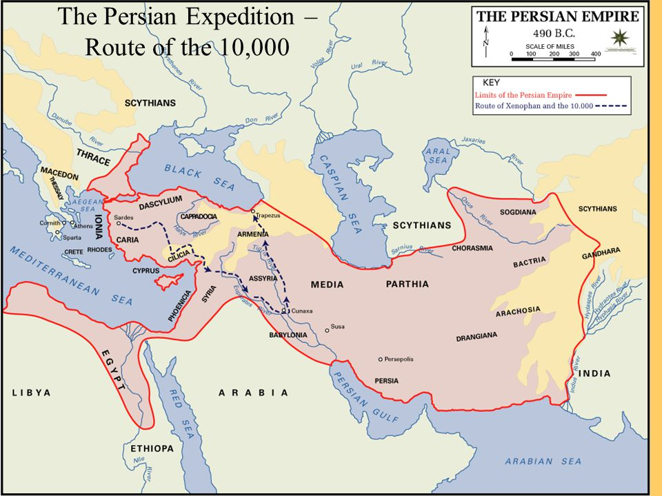The Persian Expedition – Route of the 10,000