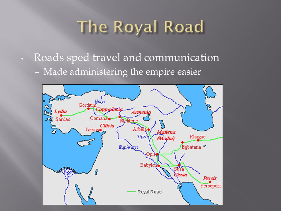 Roads sped travel and communication – Made administering the empire easier