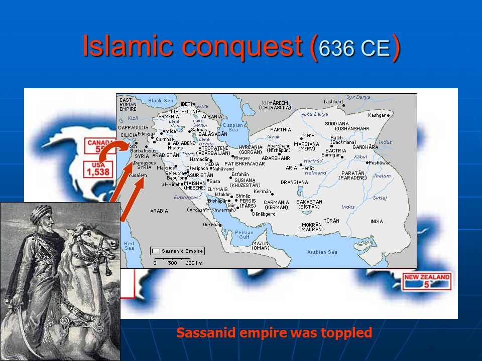Islamic conquest ( 636 CE ) Sassanid empire was toppled