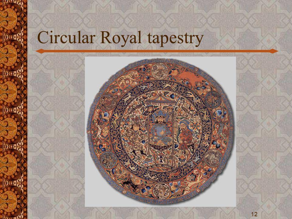 Circular Royal tapestry 12