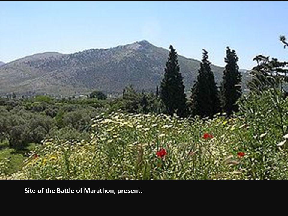 Site of the Battle of Marathon, present.