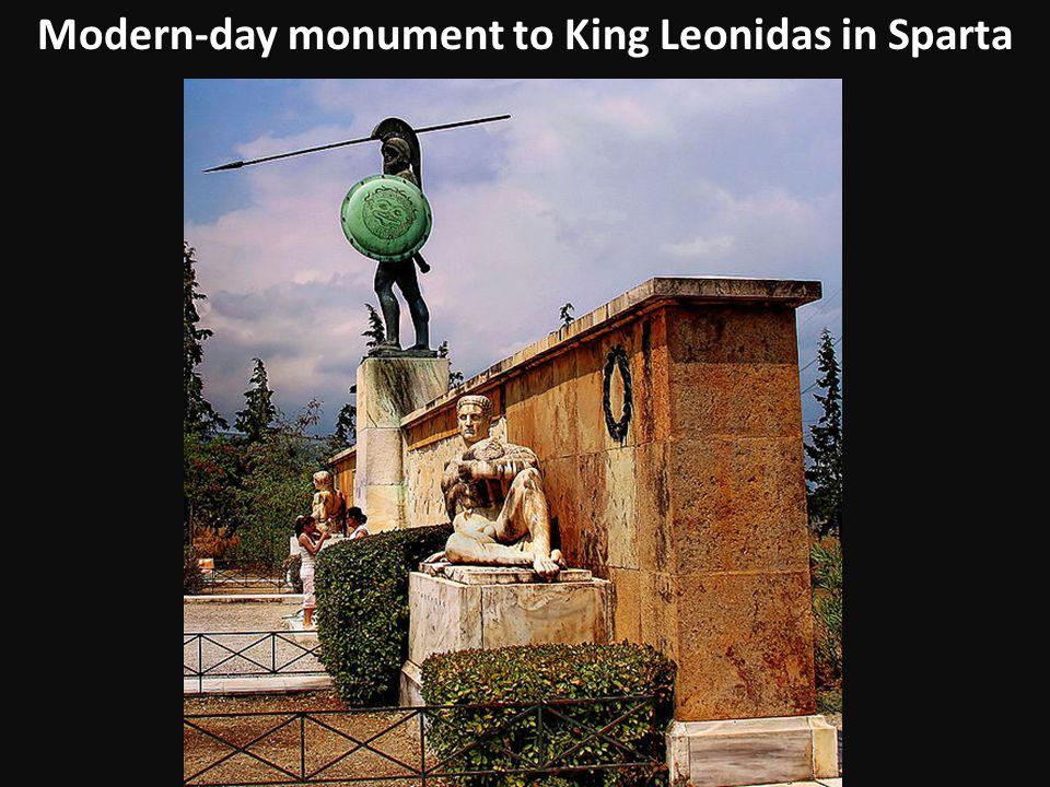 Modern-day monument to King Leonidas in Sparta