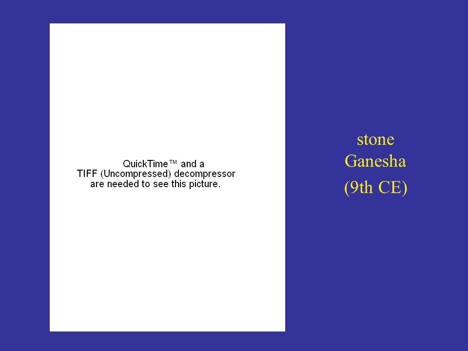 stone Ganesha (9th CE)