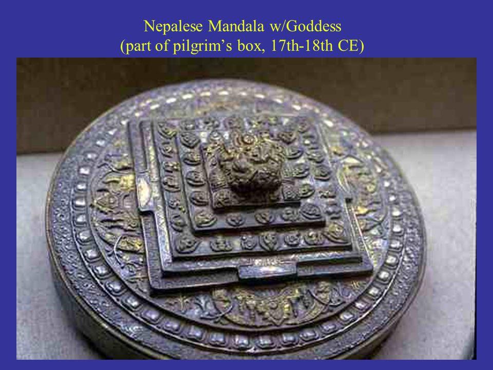 Nepalese Mandala w/Goddess (part of pilgrim's box, 17th-18th CE)