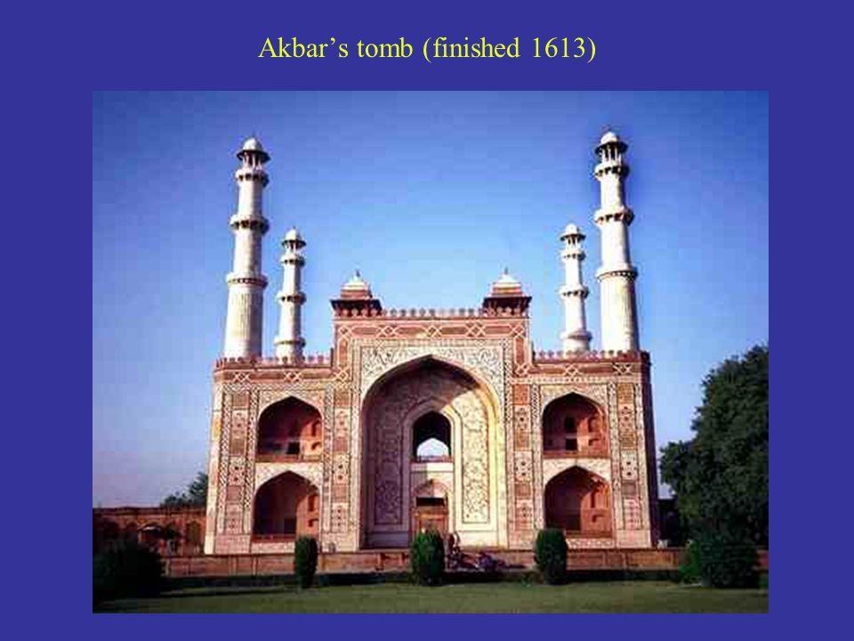 Akbar's tomb (finished 1613)