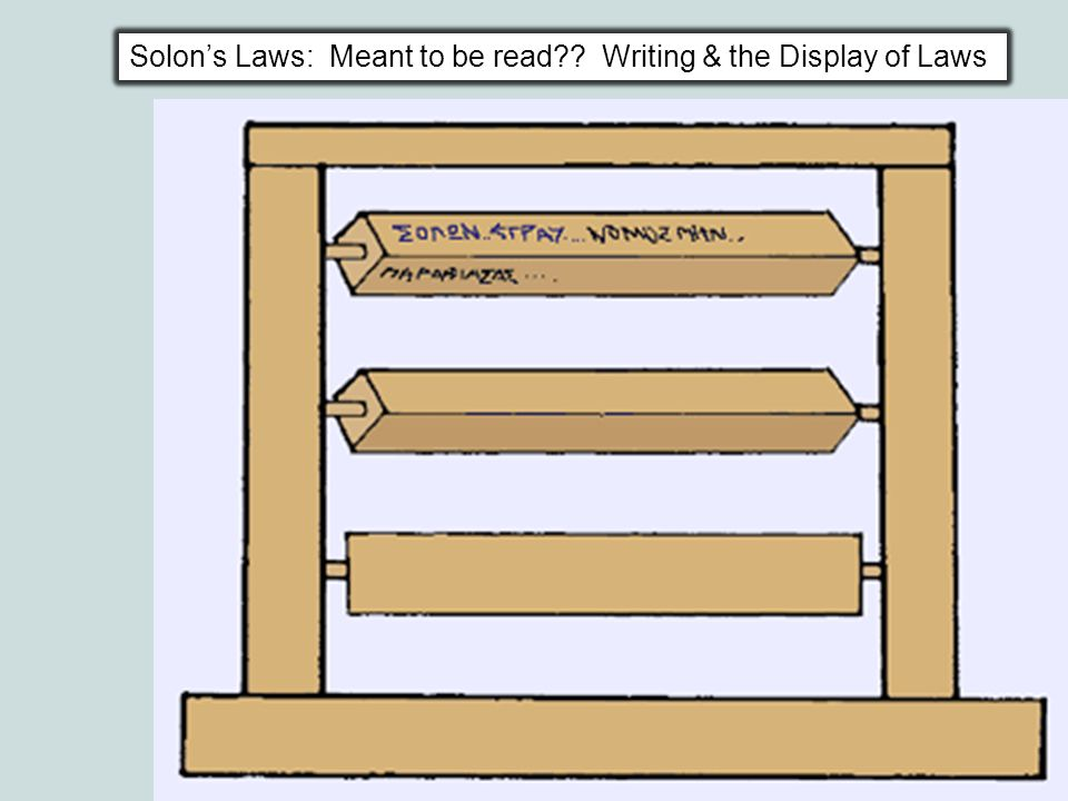 Solon's Laws: Meant to be read?? Writing & the Display of Laws