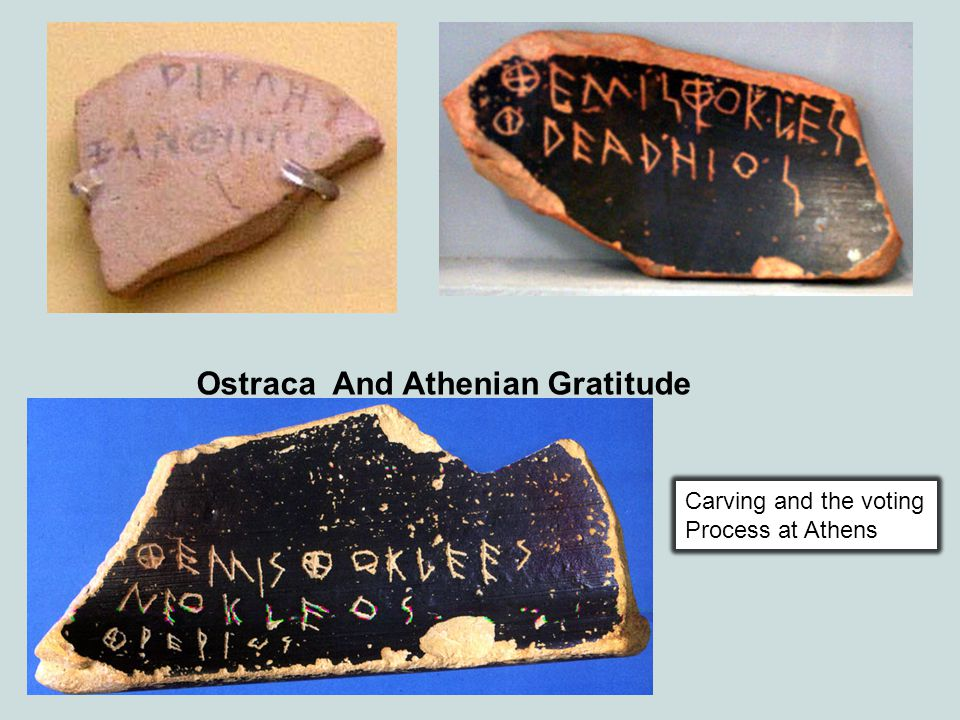 Ostraca And Athenian Gratitude Carving and the voting Process at Athens